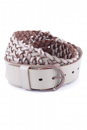 Sandwich Braided Belt light grey-bronze-colored cable stitch casual look