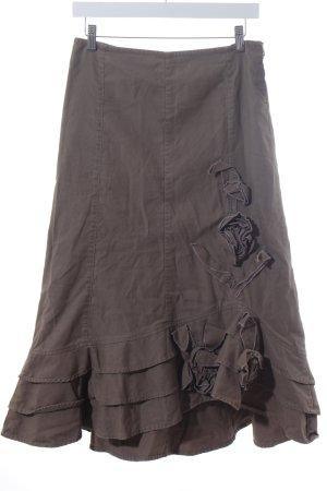 Sandwich Godet Skirt green grey-mauve