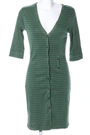 Sandwich Vestido tipo blusón verde estampado a rayas look casual