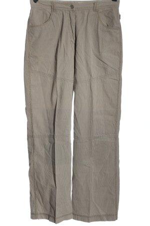 Sandwich Pantalone a vita bassa marrone-grigio chiaro motivo a righe