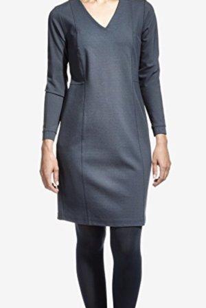 Sandwich Kleid Jersey Stretch Grau Gr. 42 Neu