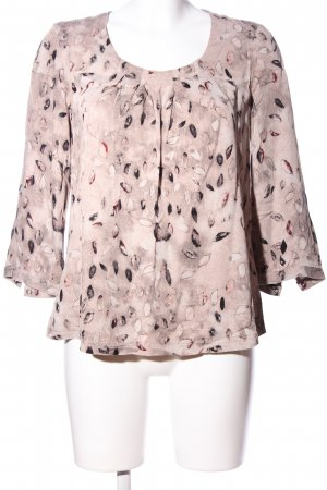 Sandwich Langarm-Bluse creme Allover-Druck Casual-Look