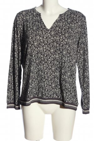 Sandwich Langarm-Bluse Leomuster Casual-Look