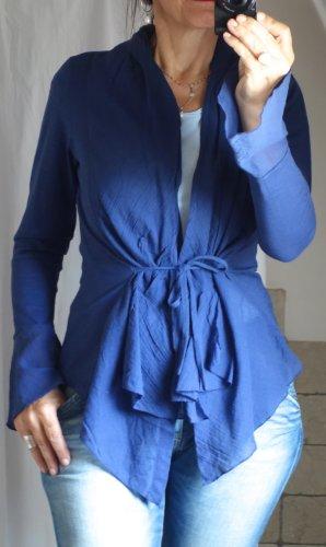 Sandwich Kopertowa bluzka niebieski-chabrowy Bawełna