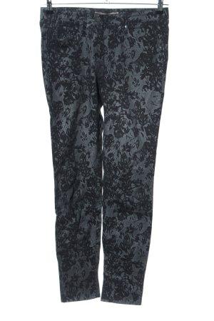 Sandwich Slim Jeans khaki-schwarz Blumenmuster Casual-Look