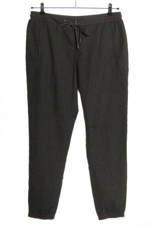 Sandwich Pantalone jersey grigio chiaro motivo a righe stile casual