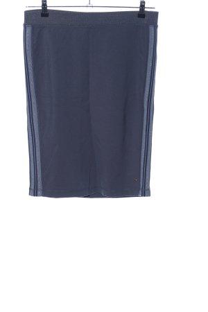 Sandwich Stretchrock blau-silberfarben Streifenmuster Casual-Look
