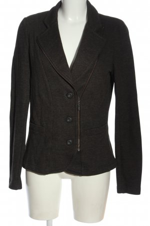 Sandwich Strickblazer braun Casual-Look