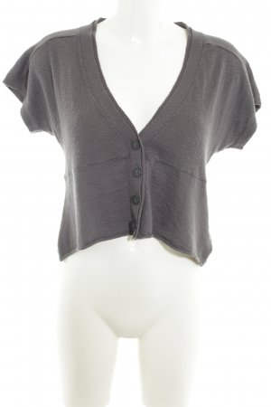 Sandwich Strickbolero grau Casual-Look