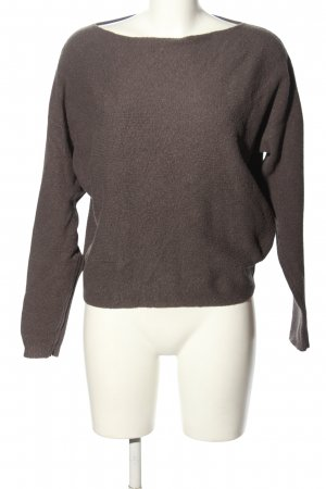 Sandwich Strickpullover braun Casual-Look