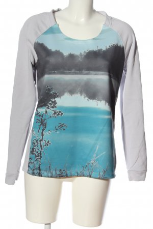 Sandwich Sweat Shirt light grey-blue themed print casual look