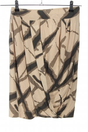 Sandwich Falda tulipán crema-negro estampado con diseño abstracto