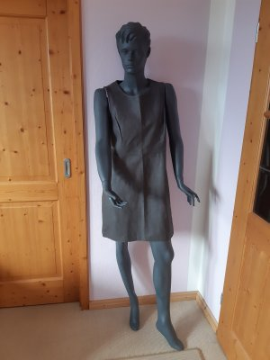 Leather Dress grey leather