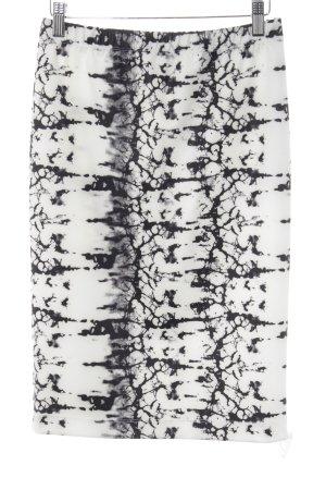Sani Blu Bleistiftrock schwarz-weiß abstraktes Muster Elegant