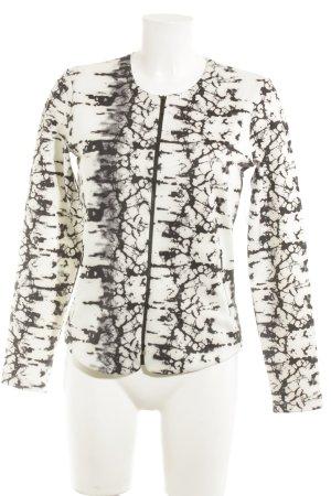 Sani Blu Blouson schwarz-weiß abstraktes Muster Elegant