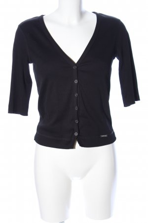 Sani Blu Cardigan schwarz Business-Look