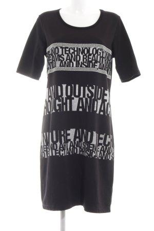 Sani Blu Shirtkleid Schriftzug gedruckt Casual-Look