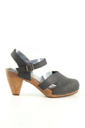 Sanita Clog Sandalen schwarz-bronzefarben Casual-Look