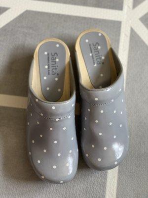 Sanita Sabots grey-white