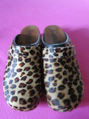 Sanita Clogs NEU in Leopardkuhfell , Größe 38.