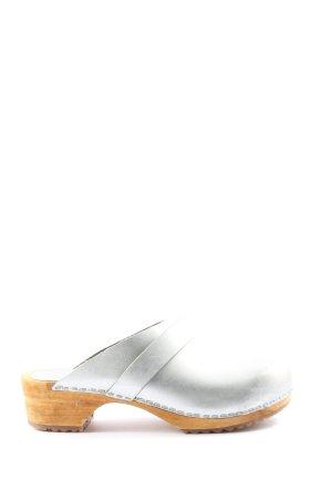 Sanita Sabot brązowy-jasnoszary W stylu casual