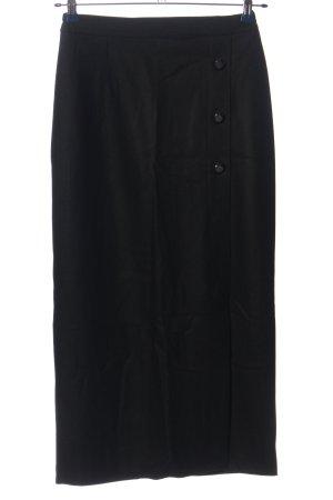 sanmar Linnen rok zwart zakelijke stijl