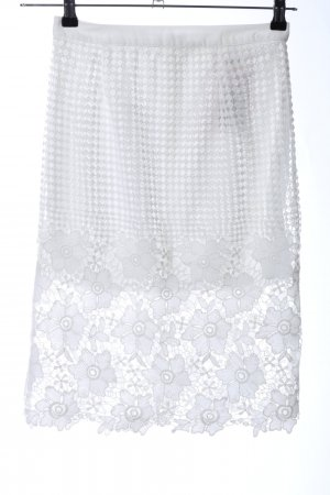 Sans Souci Lace Skirt white flower pattern casual look