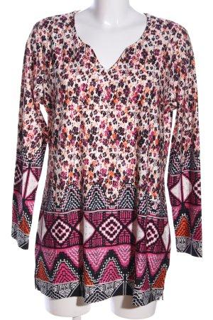 Sansetto Shirttunika pink-weiß Allover-Druck Casual-Look