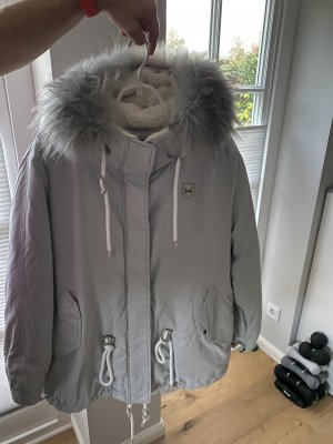 Sansibar Giacca con cappuccio grigio chiaro