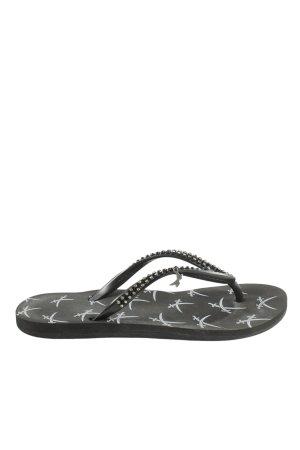 Sansibar Flip Flop Sandalen schwarz Casual-Look