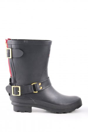 Sansibar Wellington laarzen zwart casual uitstraling