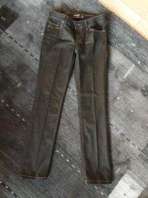 Sansibar Jeans a gamba dritta marrone-nero