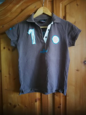 Sansibar sylt Top Polo marrone-grigio-turchese