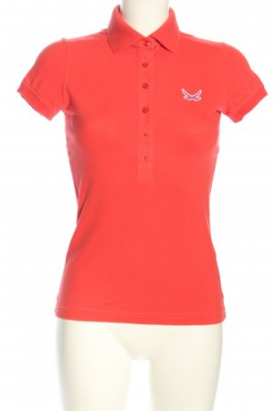Sansibar Polo rosso Stampa a tema stile casual