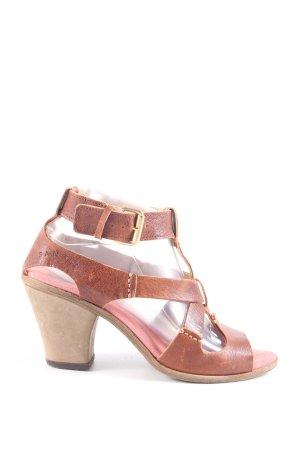 Sansibar Riemchen-Sandaletten braun Casual-Look