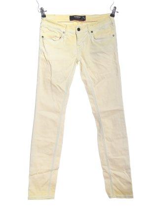 Sansibar Jeans a sigaretta crema-giallo pallido stile casual