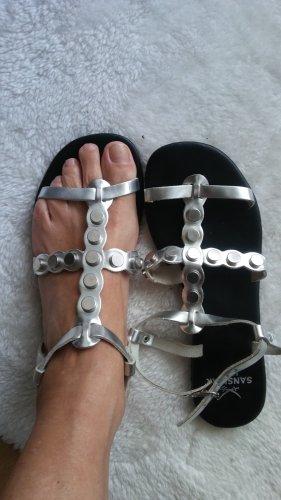 Sansibar Sandalias cómodas color plata
