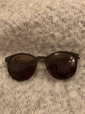 Sansibar sylt Lunettes de soleil ovales chameau-brun noir