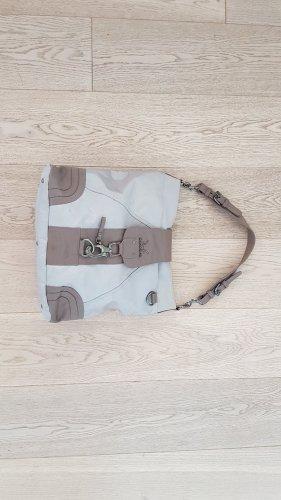Sansibar Sylt Bag Shopper NP 110€ Handtasche Tasche Umhängetasche Silber taupe beige