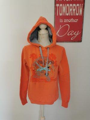 Sansibar sylt Pull à capuche orange-orange clair coton