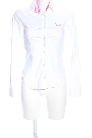 Sansibar sylt Hemd-Bluse weiß-pink Casual-Look