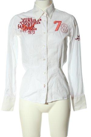 Sansibar sylt Camicia a maniche lunghe bianco caratteri ricamati stile casual