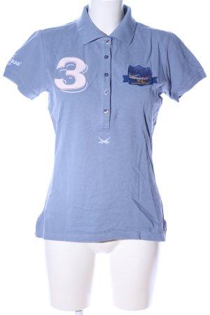 Sansibar sylt Polo-Shirt blau Motivdruck sportlicher Stil