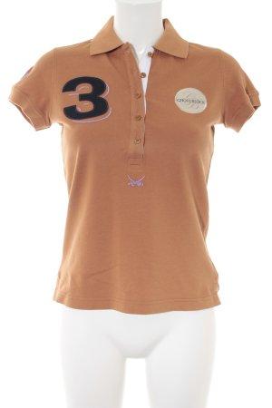 Sansibar sylt Polo-Shirt hellorange-goldorange sportlicher Stil