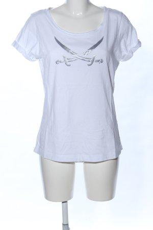 Sansibar sylt T-Shirt weiß Motivdruck Casual-Look