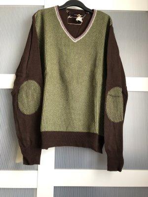 Santafe Pullover M braun grün