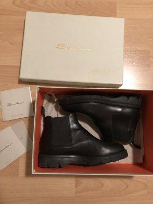 SANTONI Chelsea Boots 38 schwarz Stiefeletten aktuelle Kollektion