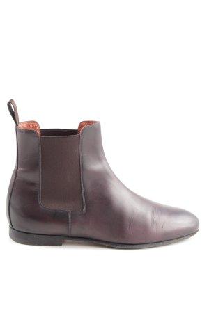 Santoni Chelsea Boots lila Casual-Look