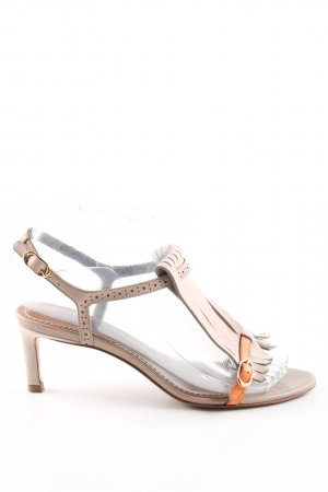 Santoni Slingback Pumps natural white casual look