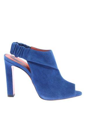 Santoni Slingback-Pumps blau Casual-Look